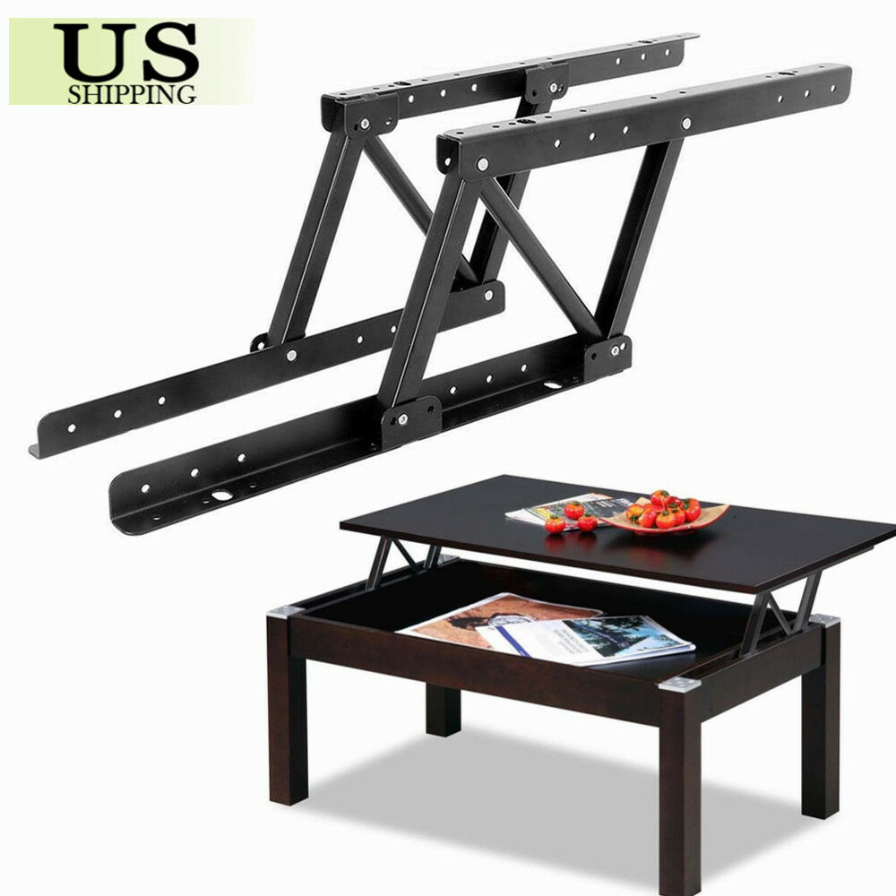 1pair Top Coffee Table Furniture Mechanism Lift Up