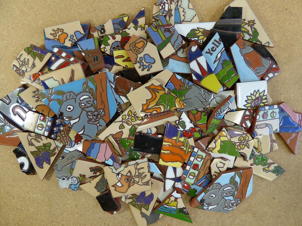 Ceramic Tile 20 Pound Box Broken Pieces Mosaic Mural Art