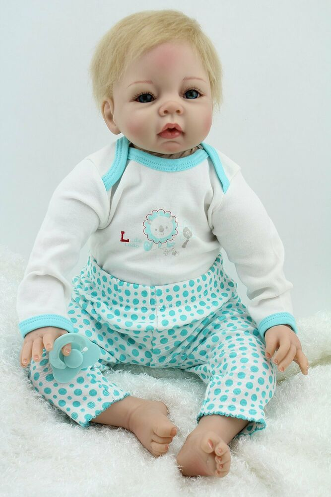 New Cute Reborn Baby Boy 22 Quot Soft Vinyl Realistic Fake