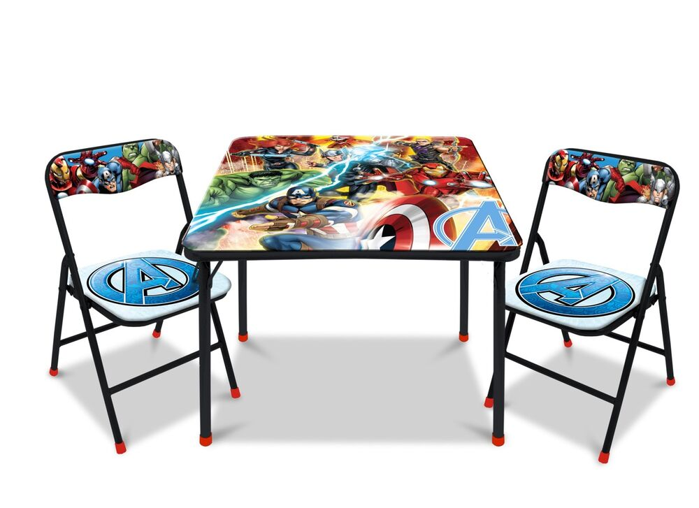 Marvel Avengers Kids And Toddlers 3 Piece Table And Chairs Set EBay