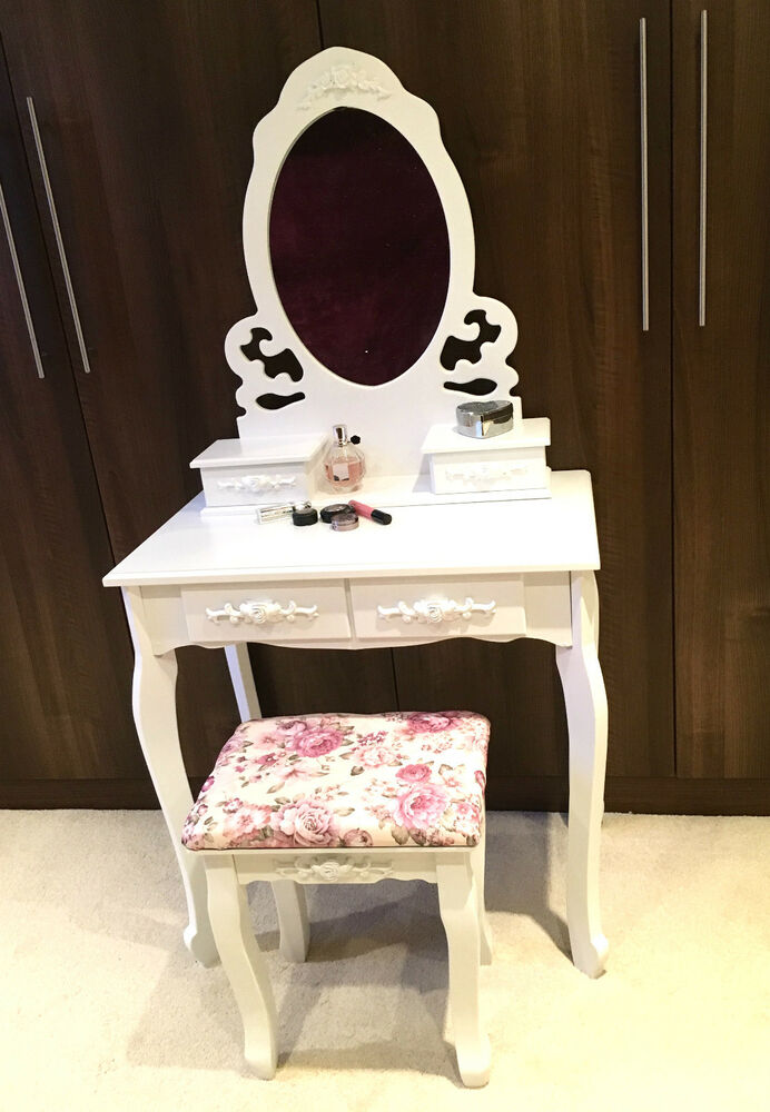 white vanity dressing table desk girl 39 s bedroom furniture floral