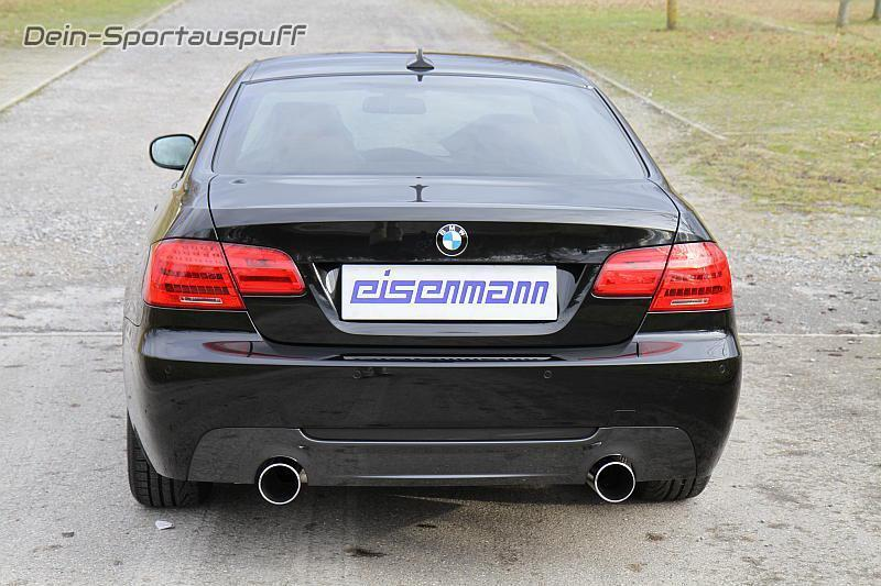 eisenmann edelstahl sportauspuff bmw 3er e92 e93 coupe. Black Bedroom Furniture Sets. Home Design Ideas