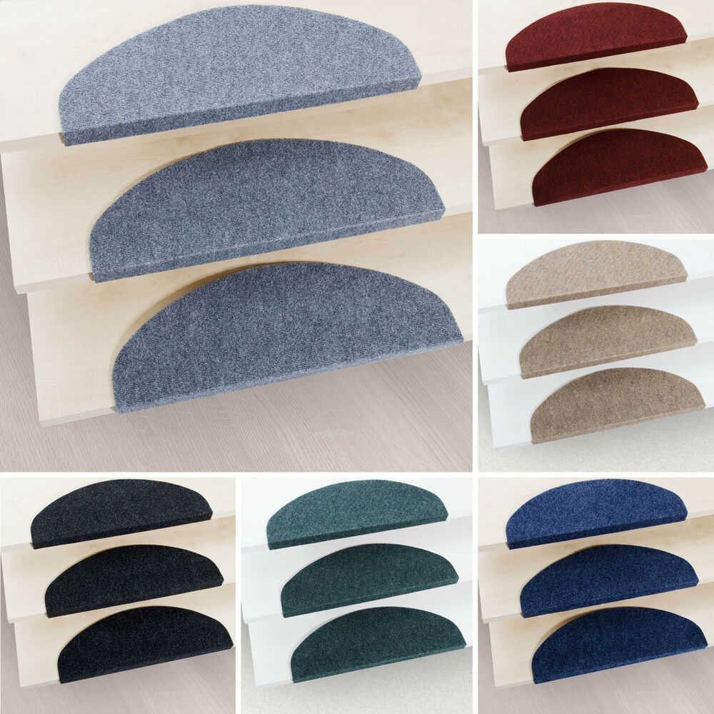 15 Piece Carpet Stair Tread Mats Step Staircase Floor Mat