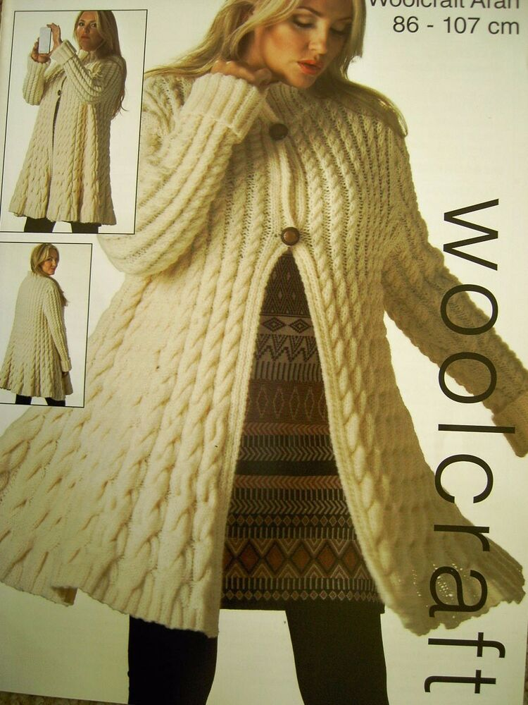 SWING JACKET TWISTED CABLE ~KNITTING PATTERN BUST 86-107cm 30A eBay