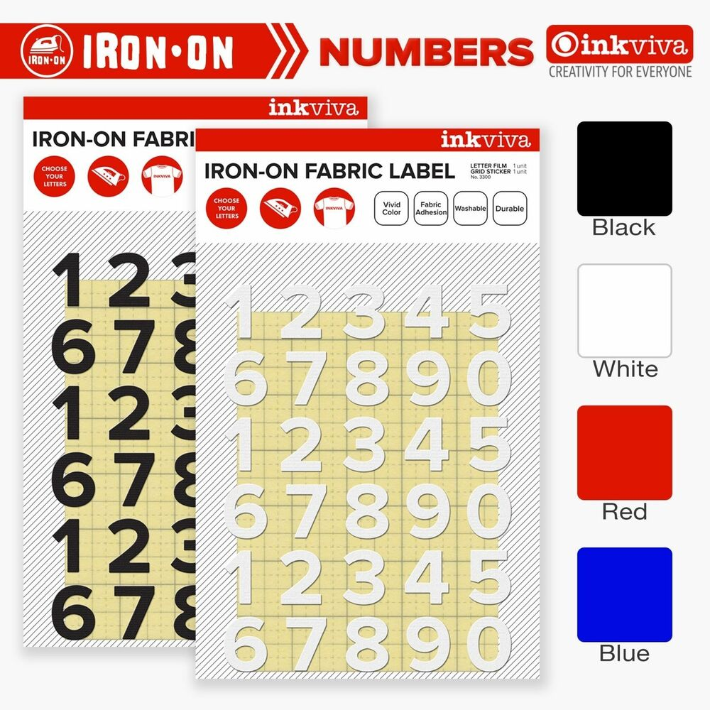I Is For Iron ~ Inkviva iron on number heat transfer label motif patch for