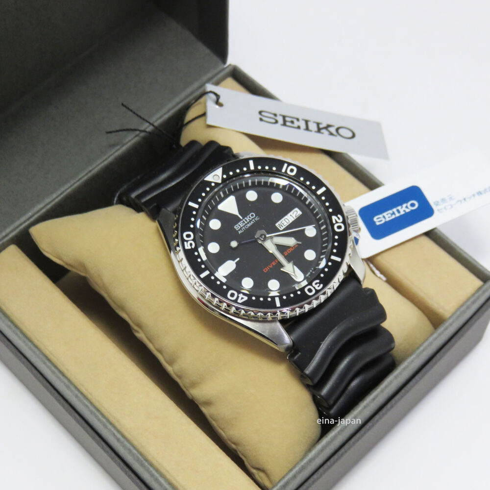 Seiko diver skx007k1 skx007kc skx007 skx007k automatic rubber band watch 751744007014 ebay for Rubber watches