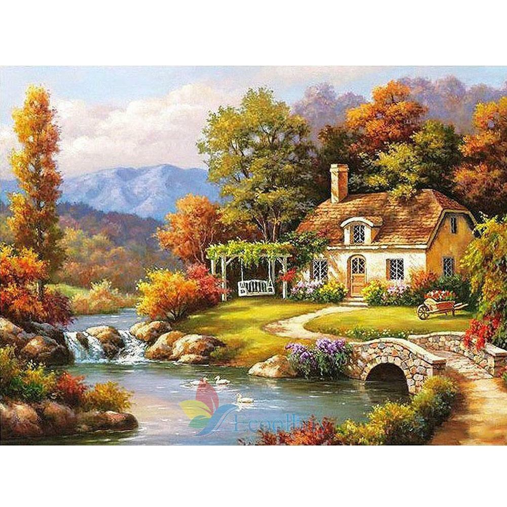112 Best Images About House Painting On Pinterest: DIY Paint By Number Kit Acrylic Oil Painting On Canvas