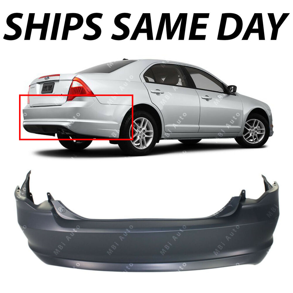 New Primered Rear Bumper Cover Replacement For 2010 2011
