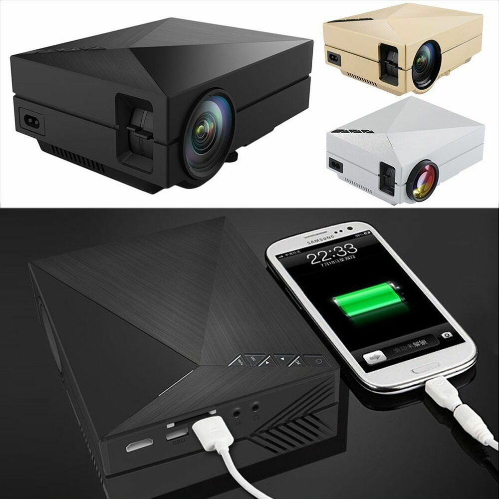 Led Lcd Projector X7 Home Cinema Theater Multimedia Led: 1000 Lumens Full HD1080P LED LCD 3D VGA HDMI TV Home