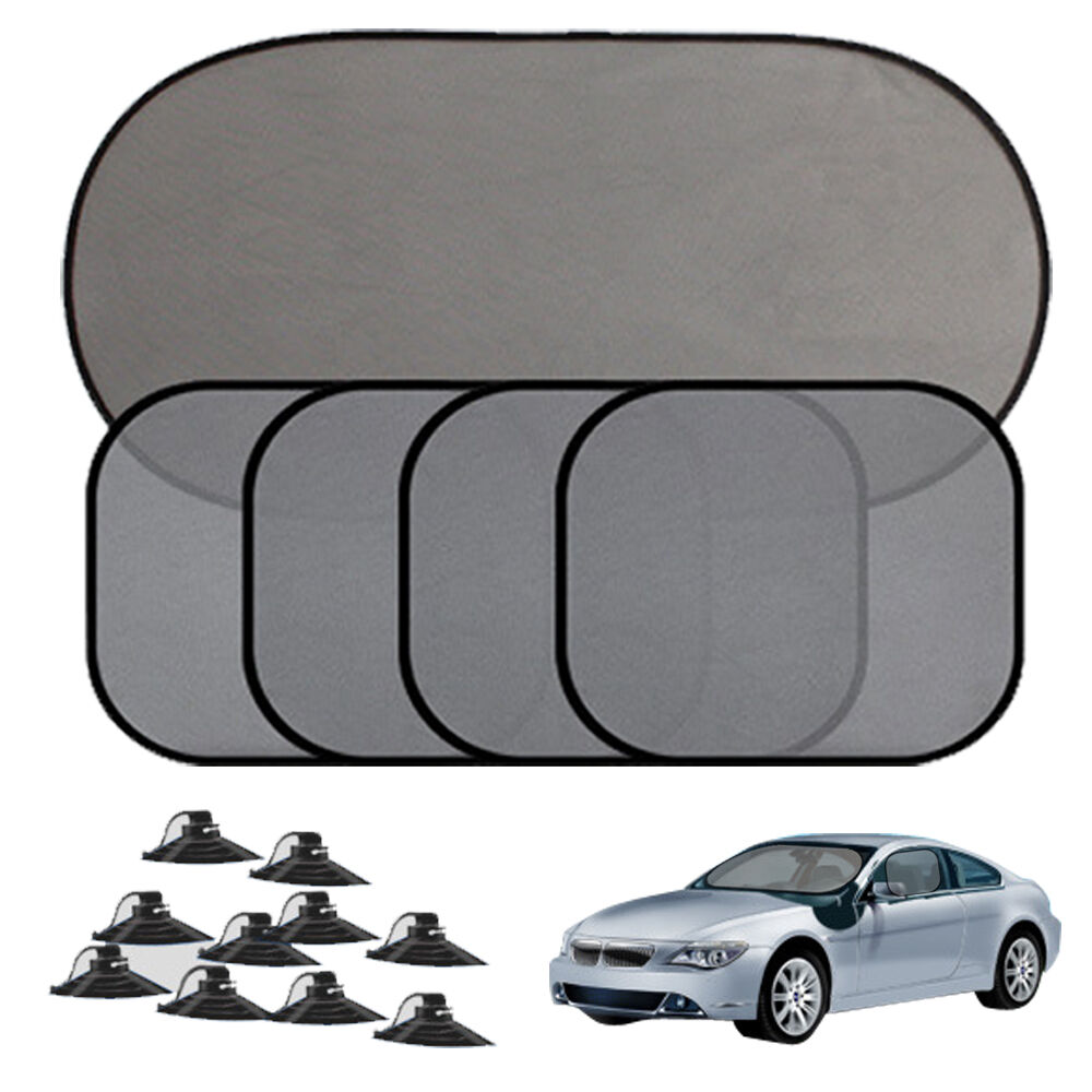 5pcs car side rear window screen sunshade cover visor mesh shield uv protection ebay. Black Bedroom Furniture Sets. Home Design Ideas