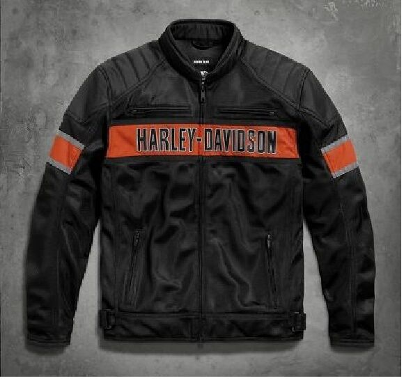 jacket giacca harley davidson nylon anorak biker jacke. Black Bedroom Furniture Sets. Home Design Ideas