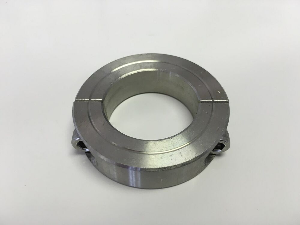 Quot inch stainless steel double split shaft collar ssc
