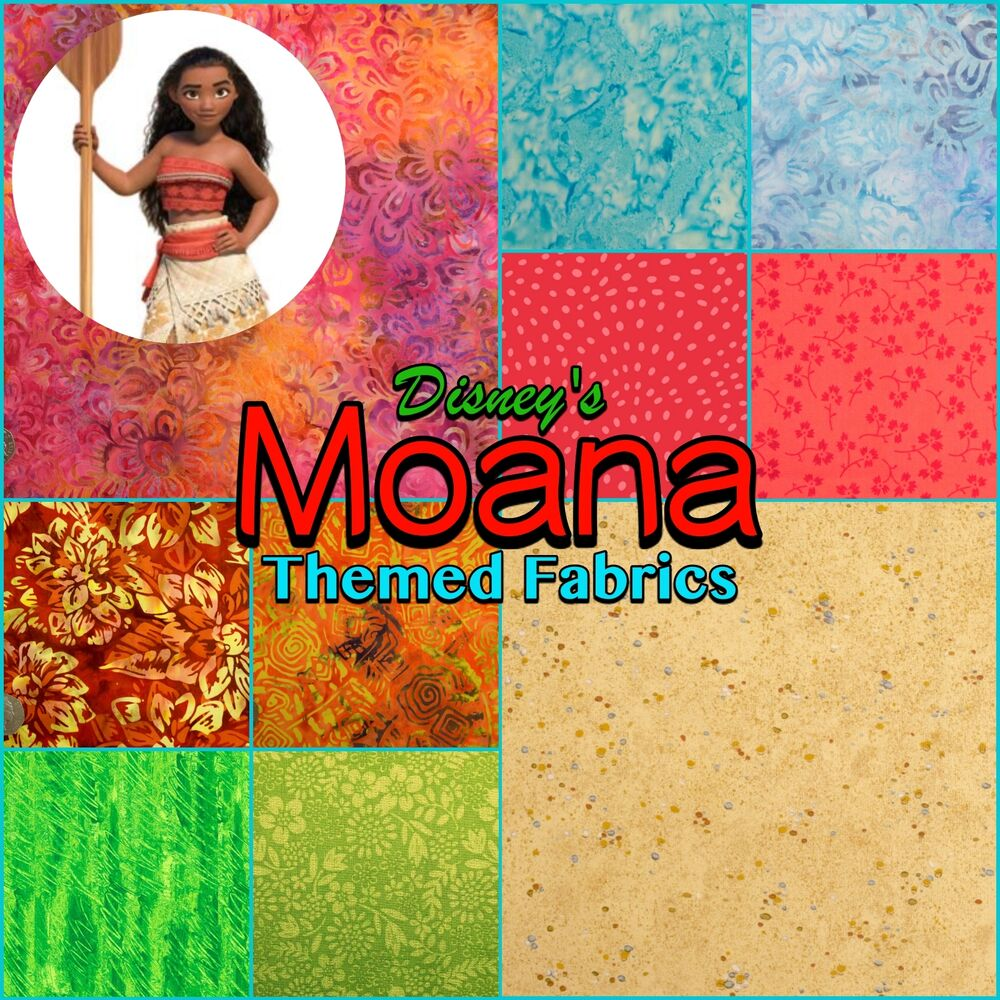 Disney Princess Moana Hawaiian Tropical Island Patchwork
