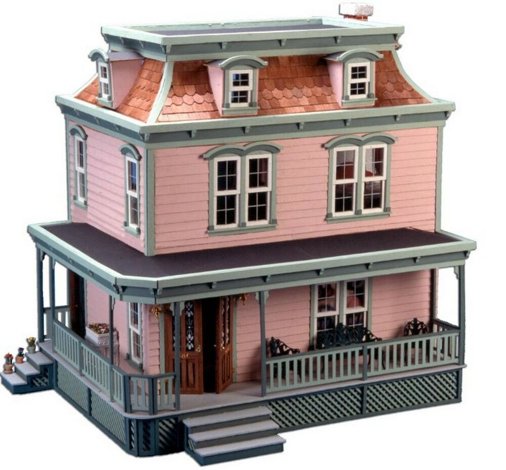 Dollhouse kit vintage miniature room wooden furniture for Victorian style kit homes