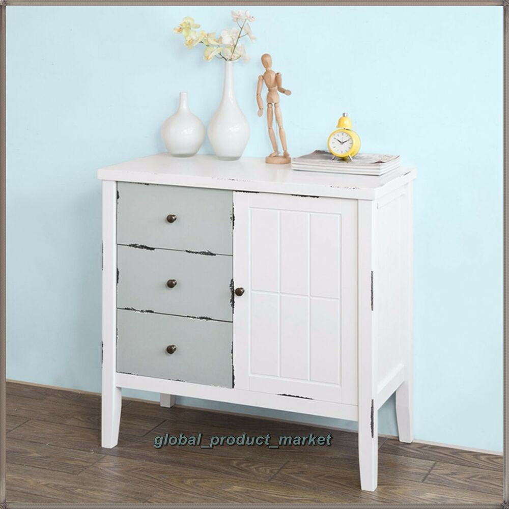 white small dresser kitchen cabinet shabby chic cupboard retro wooden sideboard ebay. Black Bedroom Furniture Sets. Home Design Ideas
