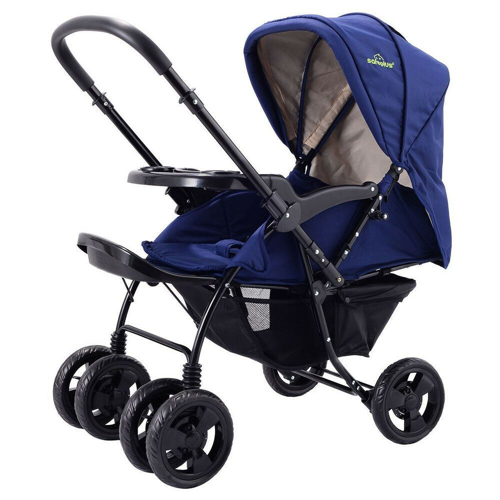 New Two Way Foldable Newborn Baby Kids Travel Stroller
