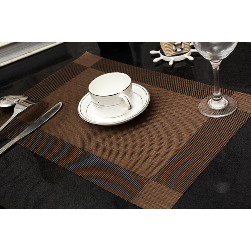Home Pvc Insulation Bowl Tableware Placemats Place Mat
