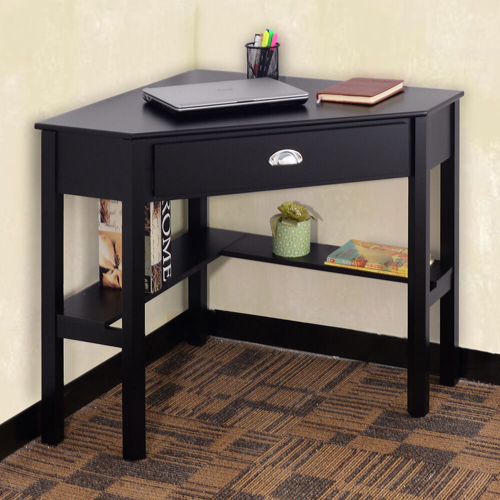 corner computer desk laptop writing table wood workstation home office furniture ebay. Black Bedroom Furniture Sets. Home Design Ideas