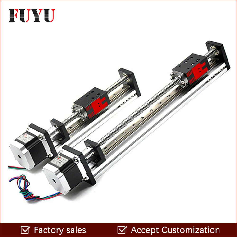 Free shipping 450mm stroke nema 23 motor cnc linear motion for Ebay motors shipping company