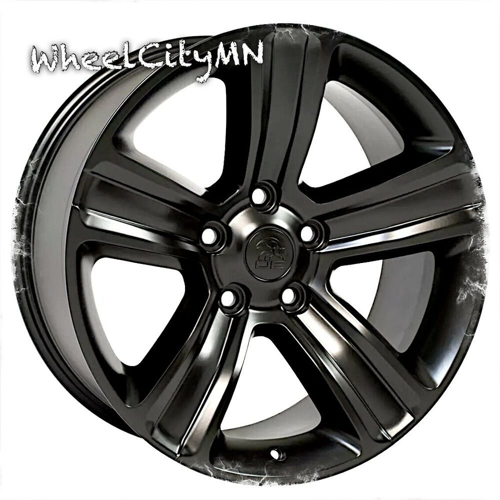 20 x9 inch satin black 2016 Dodge Ram 1500 OE factory ...