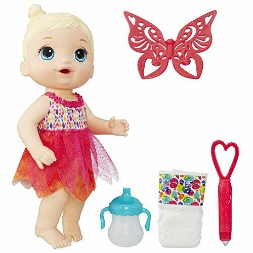 New Baby Alive Face Paint Fairy Hasbro Doll Blond