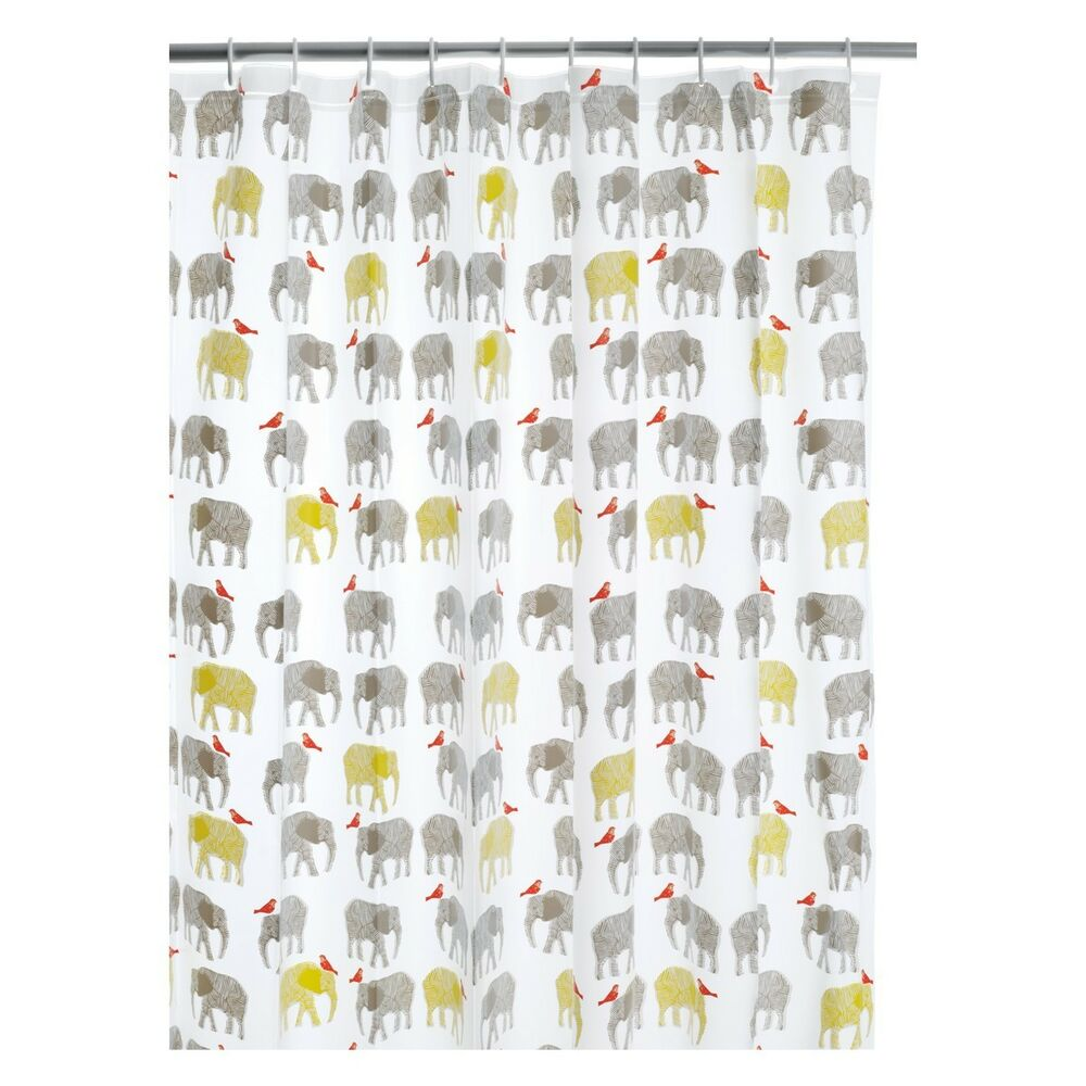 habitat novelty shower curtain topsy elephants shower curtian bnip