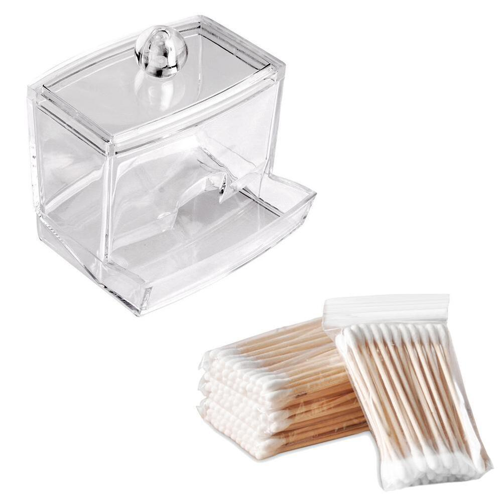 Acrylic Storage Cotton Ball Swab Pad New Organizer Holder