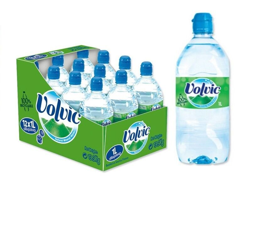 Volvic natural mineral water bottle plastic with sports for Diy mineral water bottle