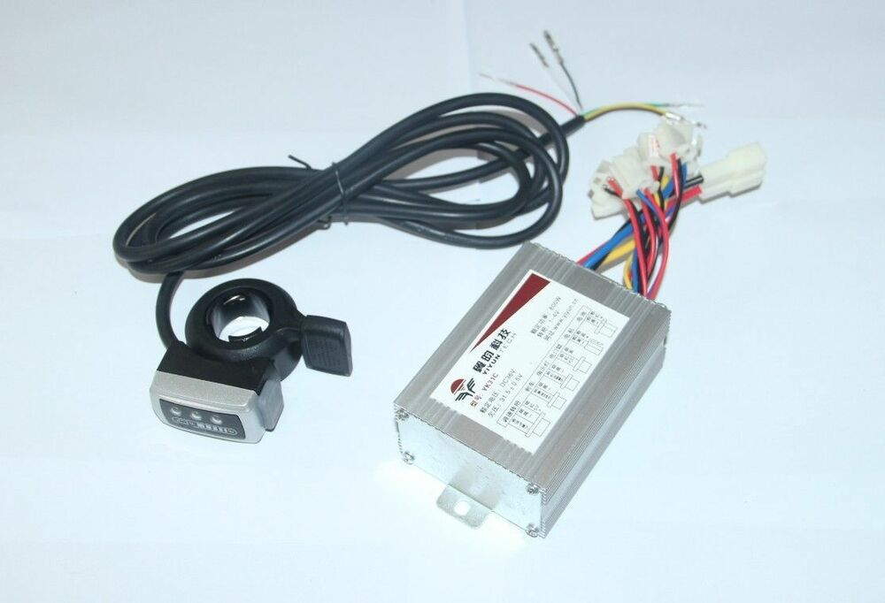 Motor brushed speed controller 36v 800w thumb throttle for for Electric bike motor controller