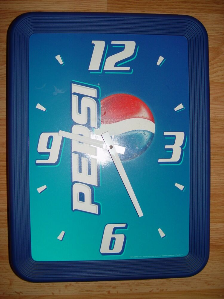 Pepsi Cola Battery Operated Wall Clock Ebay
