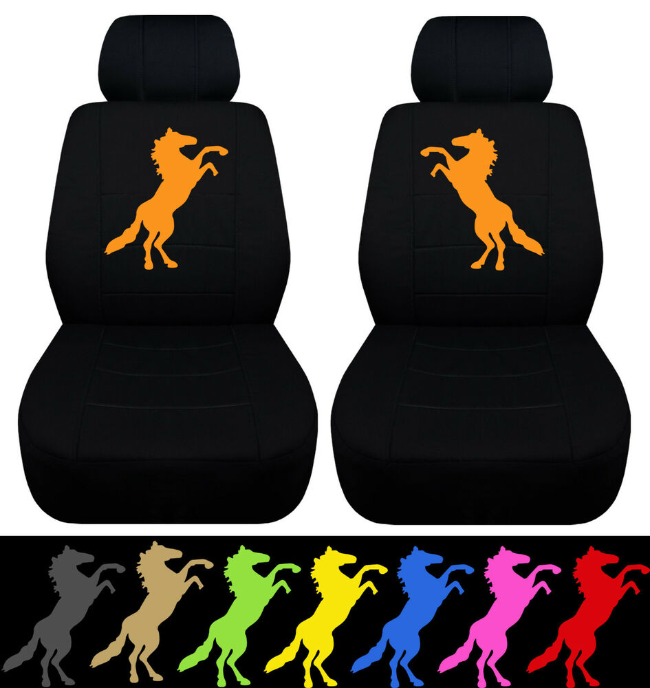 Cc 05 08 Ford Mustang Front Car Seat Covers W Standing Mustang Choose Ur Color Ebay