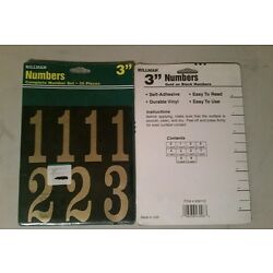 Hillman Decals 3'' Mylar Numbers Black and Gold, Item# 839710