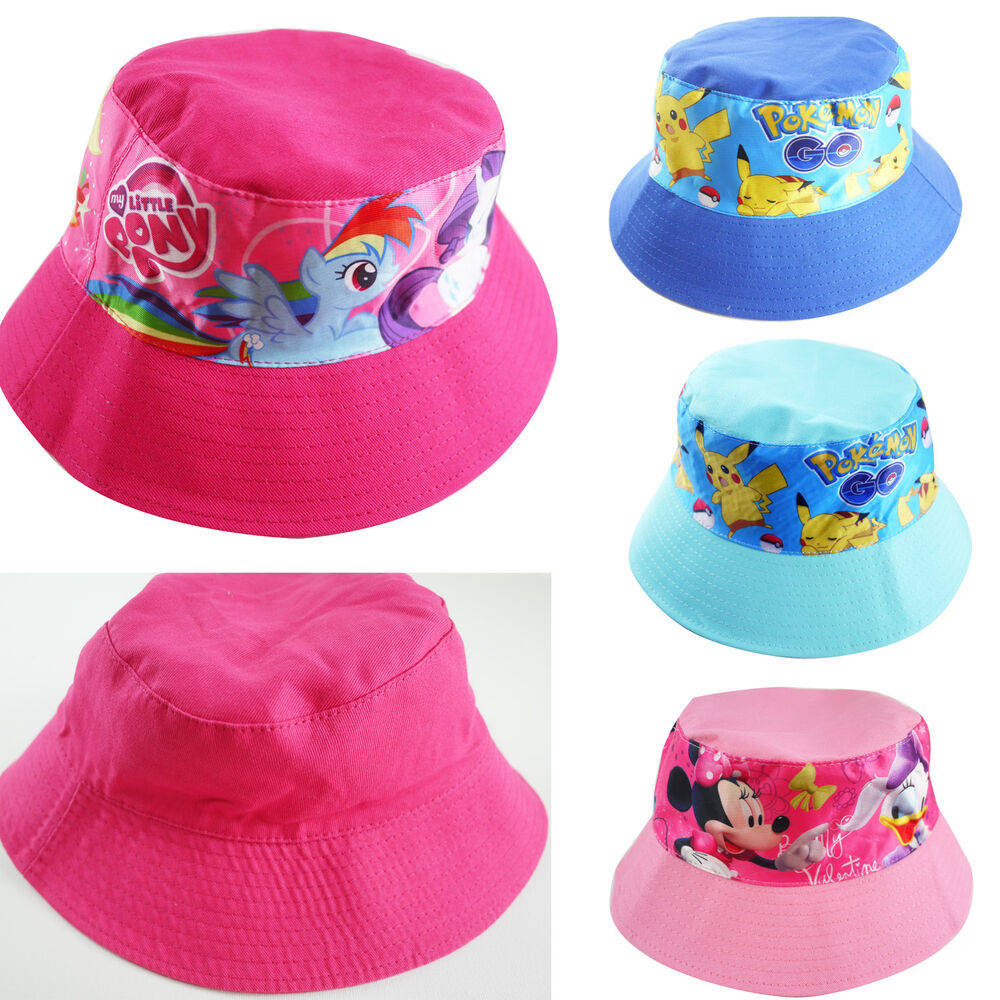 kids boys girls hunting fishing reversible bucket hat cars
