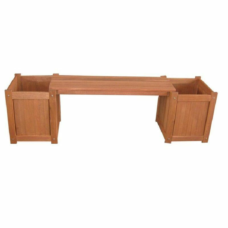 Outdoor Garden Furniture Wooden Planter Box Bench Flowers