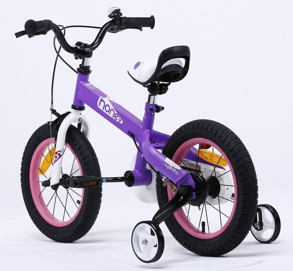 ROYAL BABY BUTTONS FREESTYLE BMX KIDS BIKES Honey -Purple