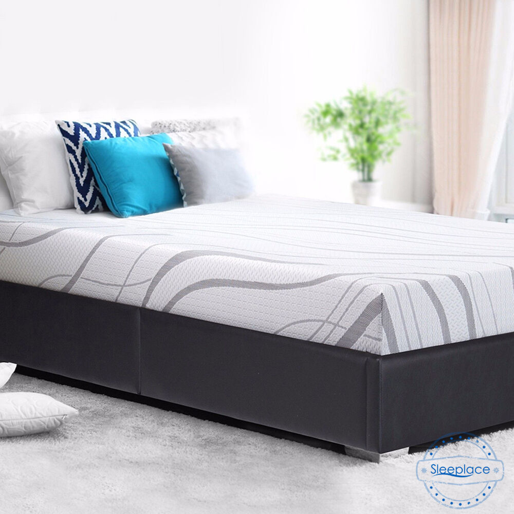Sleeplace Novus 8 Inch Cool Gel Memory Foam Mattress Bed