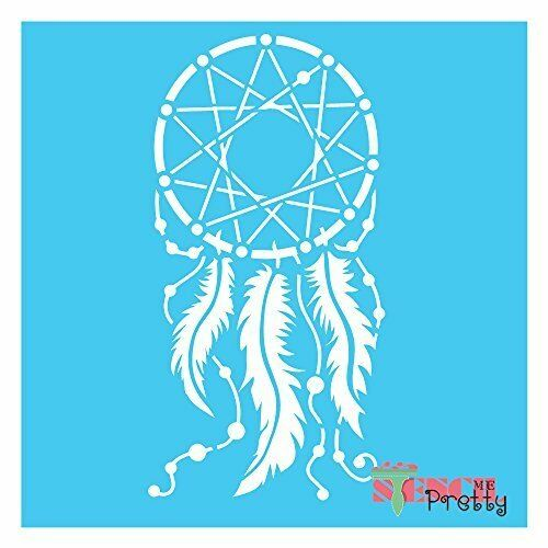 Dreamcatcher stencil diy wall art primitive chic signage for Arts and crafts stencils craftsman