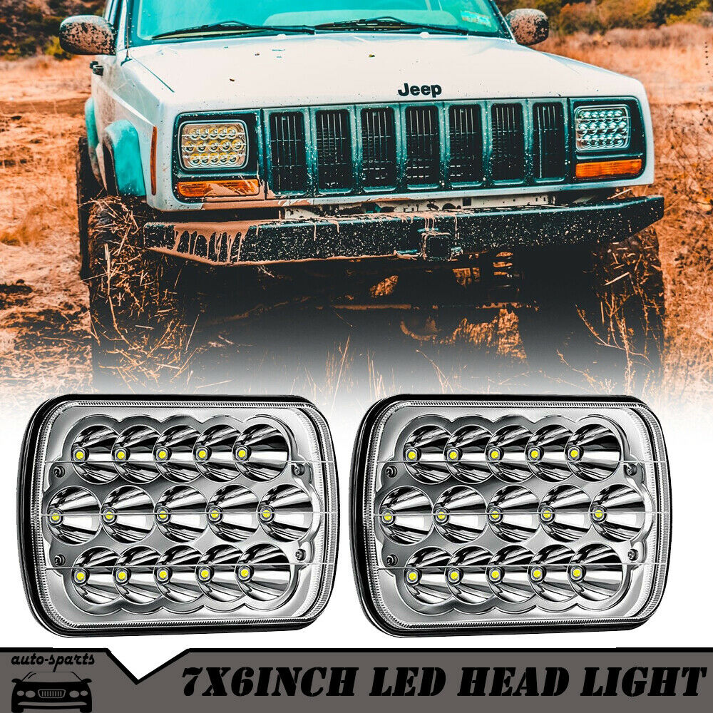 Pair LED Headlight Sealed Beam Headlamp For Chevy Express