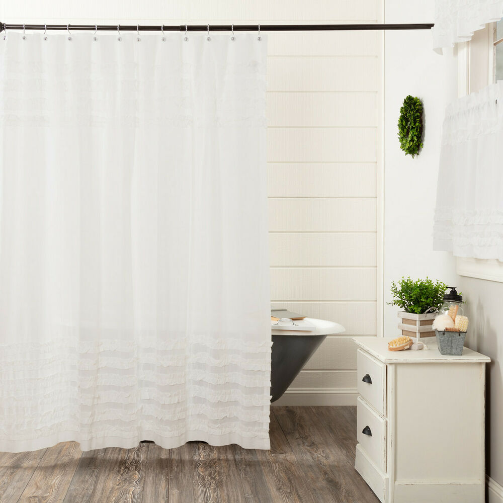 Details About Wyatt Black Bear SHOWER CURTAIN Khaki Chambray UNLINED 72X72 Country Primitive