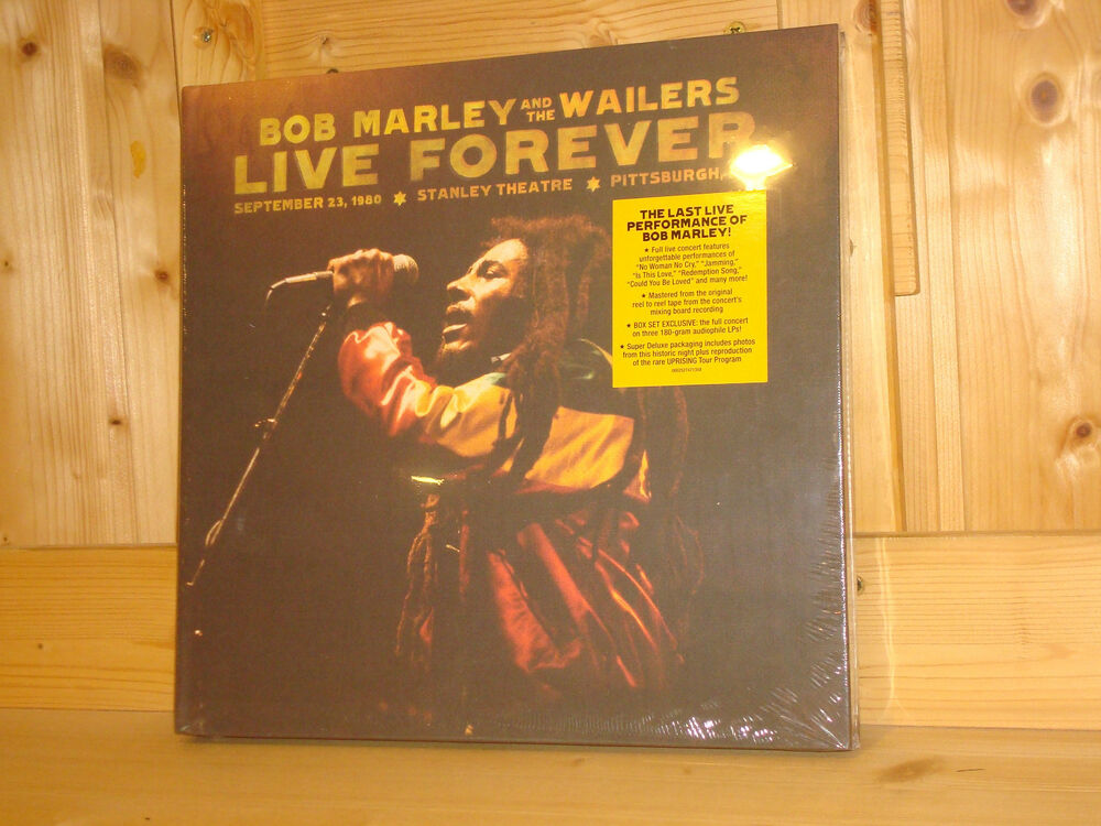 Bob Marley Live Forever Limited Deluxe Edition 3 Lp 2 Cd