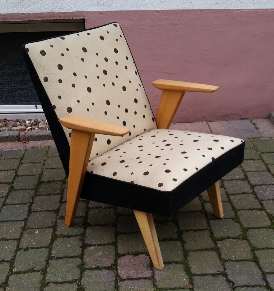 design sessel 50er jahre chair 50s ebay. Black Bedroom Furniture Sets. Home Design Ideas