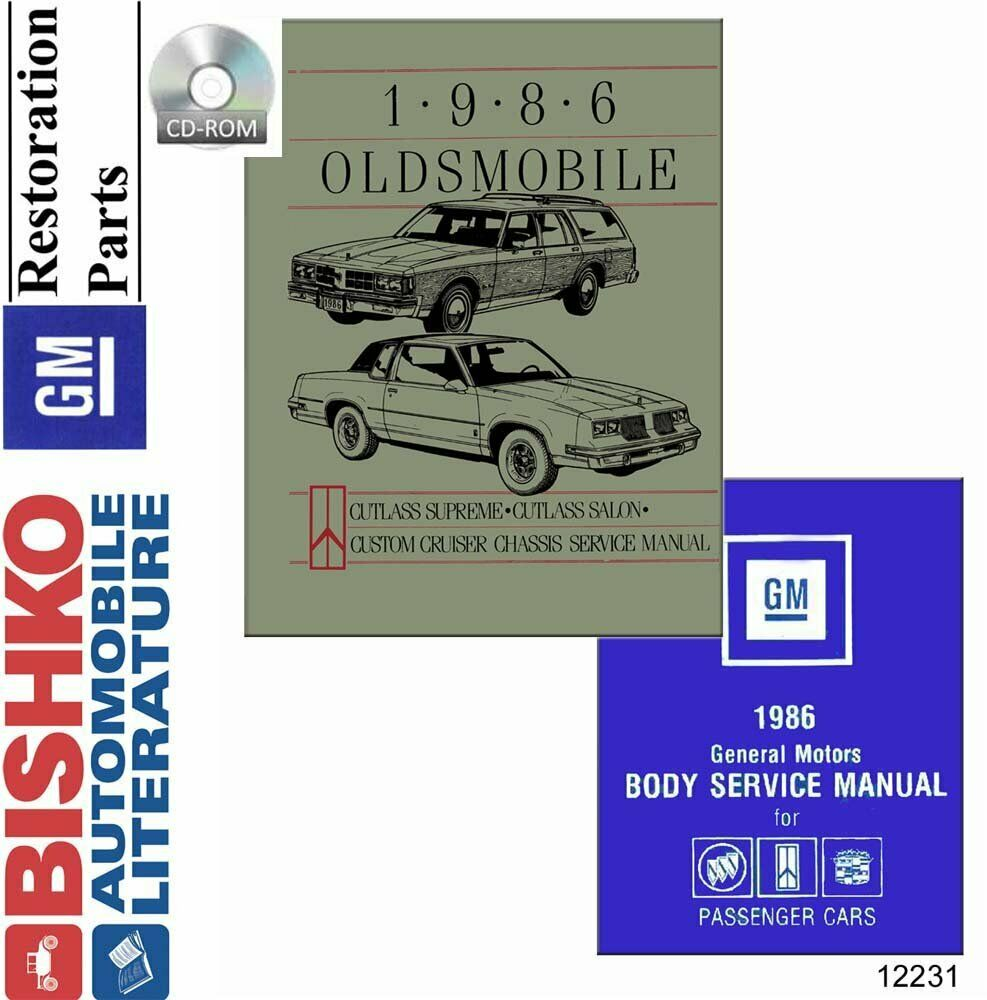 OEM Shop Manual CD Oldsmobile Cruiser/Cutlass Salon/Cutlass Supreme/Fisher  1986 | eBay