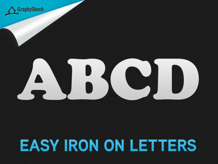 40 Iron On Heat Transfer Vinyl Alphabet Jersey Letters