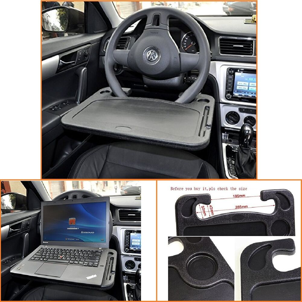 Laptop steering wheel desk auto car computer mount holder eating tray stand new ebay - Notepad holder for car ...