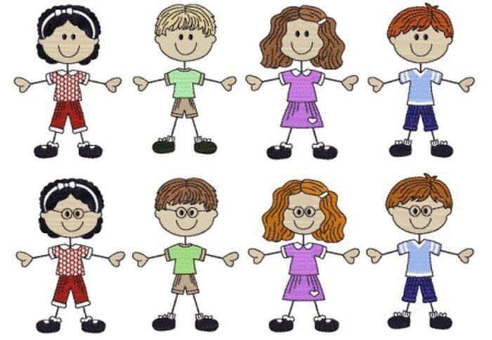Stick Kids Embroidery Designs