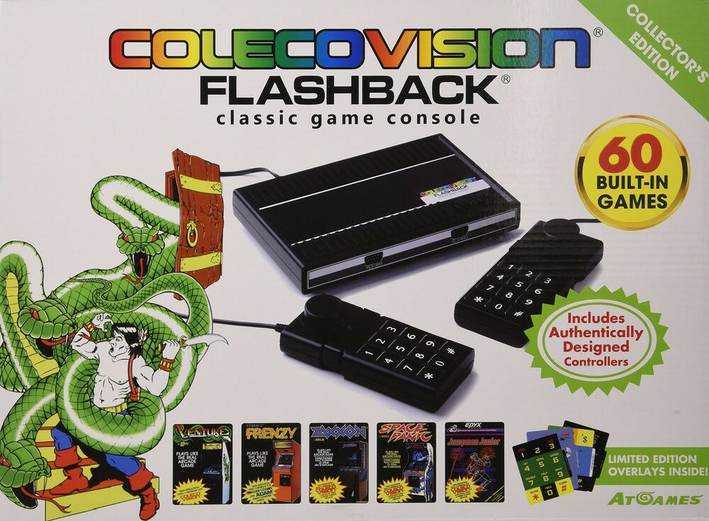 Colecovision atgames flashback classic game console with - Atari flashback classic game console game list ...