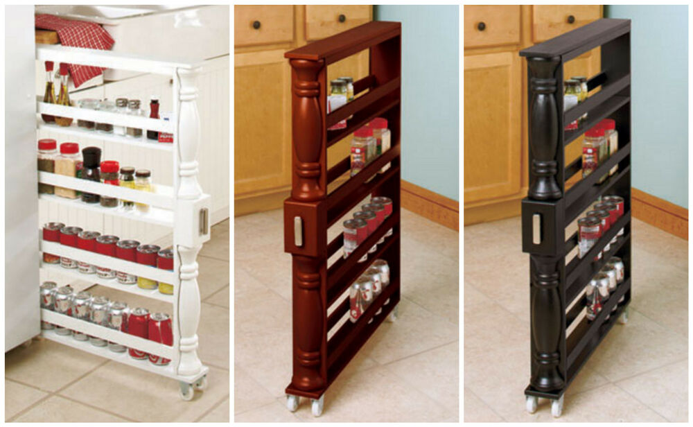 SLIM ORGANIZER ROLLING SPICE / CAN HOLDER BETWEEN CABINET