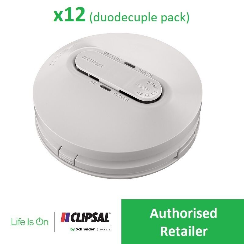 Clipsal X12 755psma4 240v Smoke Alarm Photoelectric