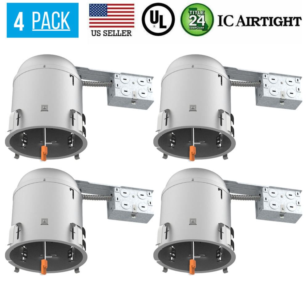 12 Pack 6 Inch Remodel Led Can Air Tight Ic Recessed
