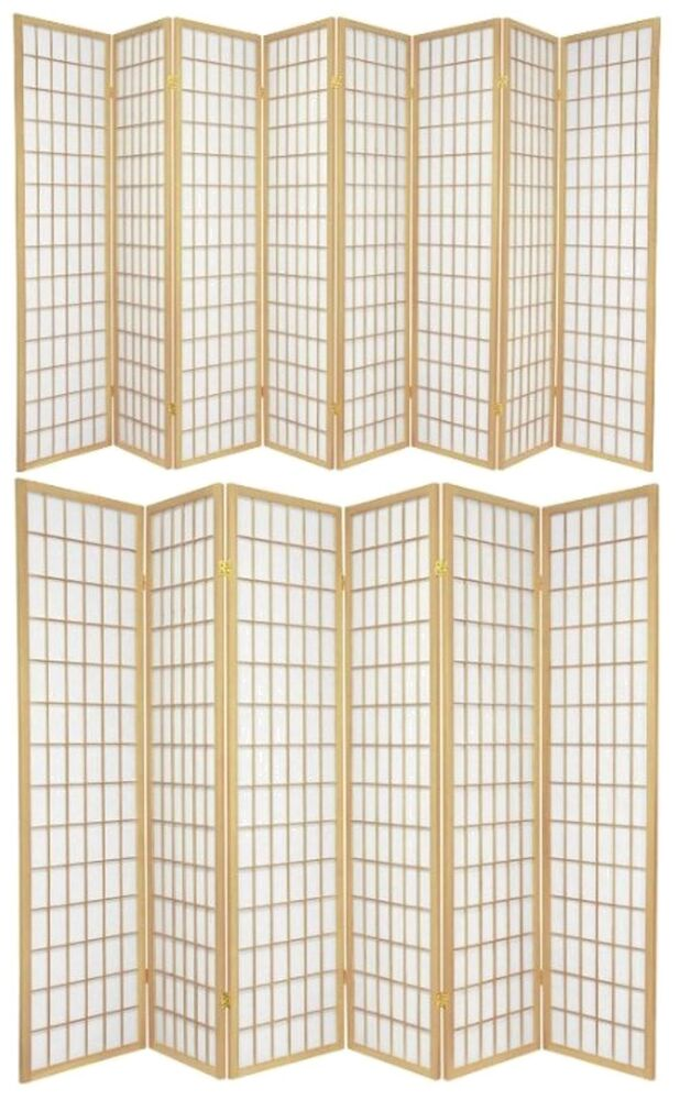 6 And 8 Panel Japanese-Oriental Style Shoji Screen Room